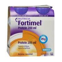 Fortimel Protein Nutriment Caramel 4 Bouteilles/200ml à TOULOUSE